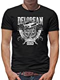 Delorean Machine Outatime T-Shirt Homme M Noir