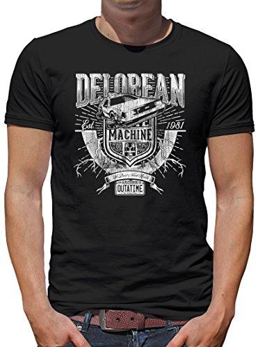 TLM-Delorean-Machine-Outatime-T-Shirt-Herren