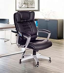 Poltrona da ufficio massaggiante nera sedia da studio con for Sedia da ufficio amazon