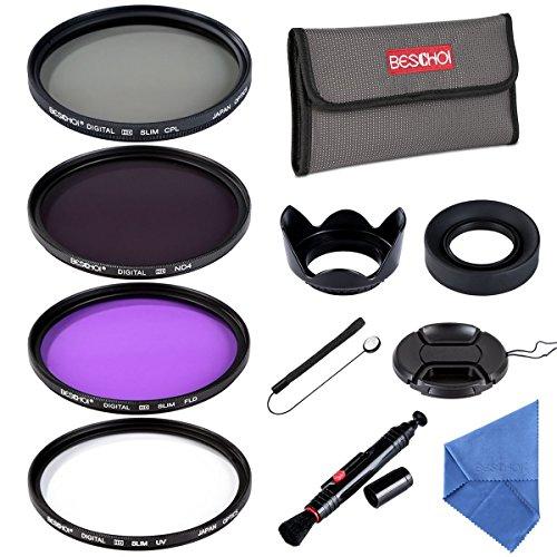 Galleria fotografica Beschoi Filtro Nd+Uv+Filtro Fld+CPL, Kit Filtri 11 Accessori per Canon Nikon Sony Sigma DSLR 58mm
