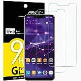 NEW'C Verre Trempé pour Huawei Mate 20 Lite,[Pack de 2] Film Protection écran - Anti Rayures - sans Bulles d'air -Ultra Résistant (0,33mm HD Ultra Transparent) Dureté 9H Glass