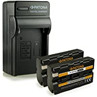 PATONA Chargeur + 2x Batterie NP-F550 pour Sony BC-V615 | DCM-M1 | DCR-TRU47E | MVC-CD1000 | PLM-100 | VCL-ES06A | CCD-TR1 | TR200 | TR215 | TR3
