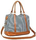 CAMTOP Damen Handgepäck Weekender Reisetasche Canvas Frauen Segeltuch Reise Duffel Carry-on Wochenende über Nacht Schultertasche
