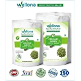 Wellona 100% Pure, Decaffeinated Green Organic Coffee Beans For Weight Loss (200 Gm, Pack Of 2)
