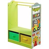 Preisvergleich für LibertyHouseToys Kid Safari Kleid bis Aufbewahrung, Holz, Grün/Orange