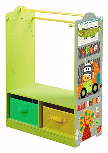 LibertyHouseToys Kid Safari Kleid bis Aufbewahrung, Holz, Grün/Orange