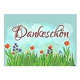Große XXL Dankeskarte mit Umschlag / DIN A4 / Dankeschön Blumenwiese / Dankeschön / Danke sagen / Danksagung