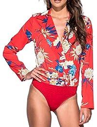 80abf10087a Amazon.fr   Rouge - Combinaisons et combishorts   Femme   Vêtements