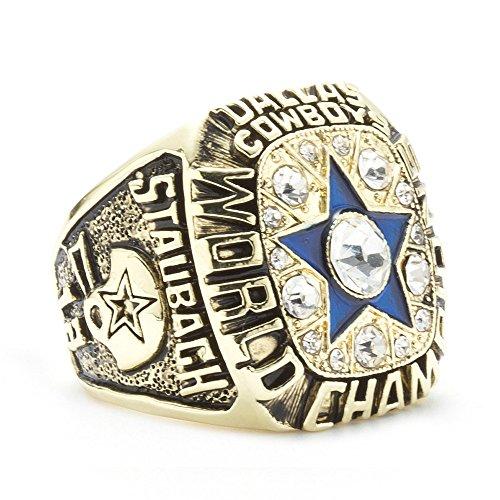 LANCHENEL Herren Titan Stahl 1971 Dallas Cowboys Meisterschaft Ringe,Größe ()