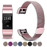 Gugou Kompatibel Mit Fitbit Charge 2 Strap, Metall Zubehör Ersatzband Sport Armband Für Fitbit Charge 2
