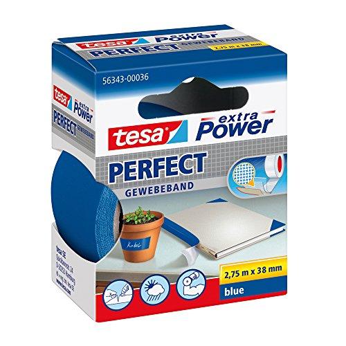 Tesa 56343-00036-03 Power Perfect - Cinta adhesiva , color azul