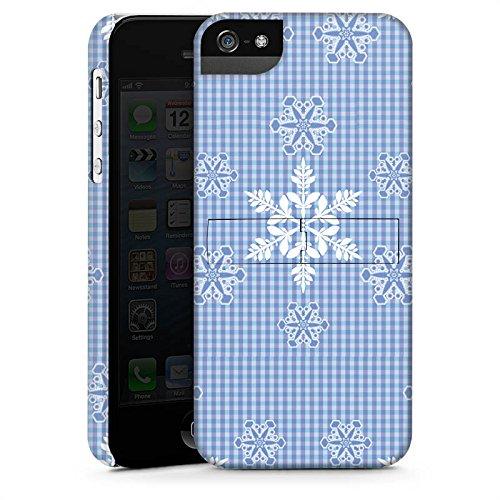 Apple iPhone X Silikon Hülle Case Schutzhülle Schneeflocken Weiß Blau Muster Premium Case StandUp