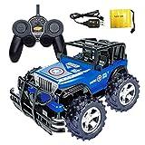 Upxiang RC Auto High-Speed Off Road 2.4 GHz 4WD Fernbedienung 1/18 RC Trucks für Kinder Geschenk (Blau)