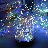 LED-Lichterketten 100 Leds T-Antrix dekorative batteriebetriebene Lichterketten, Kupferdraht Licht Mehrfarbig Bunt für Schlafzimmer, Hochzeit