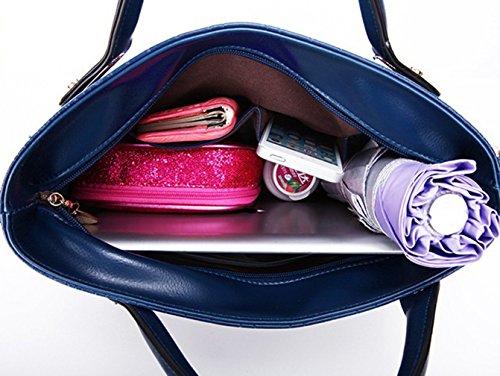 Keshi Pu Cool Damen Handtaschen, Hobo-Bags, Schultertaschen, Beutel, Beuteltaschen, Trend-Bags, Velours, Veloursleder, Wildleder, Tasche Saphirblau