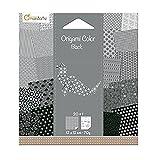 Avenue Mandarine 42687O Origami color Papier (quadratisch, 12 x 12 cm, mit Faltanleitung, 20 verschiedenen Blätter) schwarz / weiß
