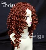 Lovely Long Curly Fox Red skin top Wigs Versatile Hair Ladies Wig UK 130