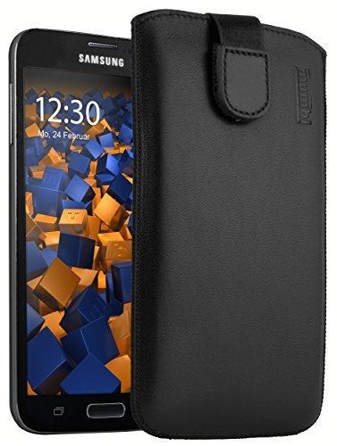 mumbi ECHT Ledertasche für Samsung Galaxy S5 / S5 Neo Tasche Leder Etui (Lasche mit Rückzugfunktion Ausziehhilfe)