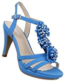 Damen Sandaletten Schuhe Riemchen High Heels Stiletto Abendschuhe Business Club Pumps Blau 38
