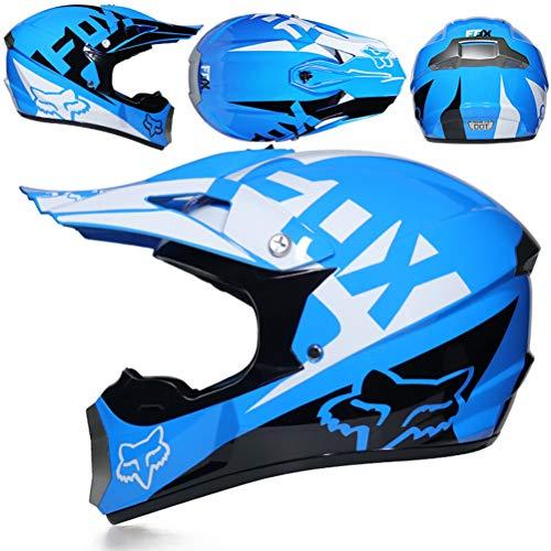 Herren Vollgesichts-Motorradhelm mit Geschenk, Maske und Visier Off-Road-Motorradsturzhelme Moto Motocross Racing Protection Safety Caps -