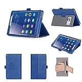 Huawei MediaPad T3 8.0 Hülle, ISIN Huawei MediaPad T3 8.0 KOB-W09 und KOB-L09 8,0 Zoll WIFI 4G LTE Tablet PC Handy Premium PU-Leder Schutzhülle Tasche Stand Cover mit Handschlaufe,Stylus Halter und Kartenschlitz (Blau)