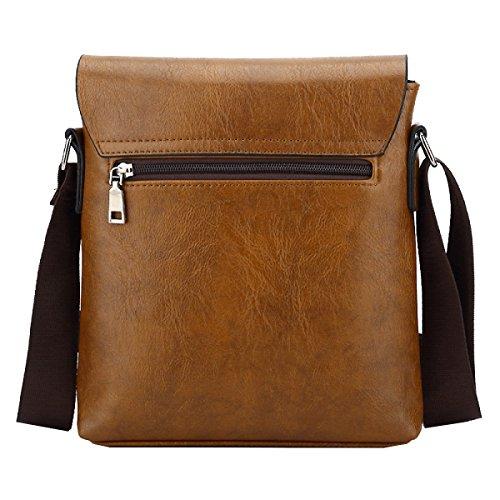 Yy.f Neue Echte Männer Schulterbeutel Messenger Taschen Ledertaschen Taschen Solide Praktische Innen 3 Farbe Yellow