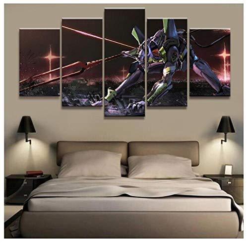 XYZNB ImpresionessobreLienzo 5 Unidades Neon...