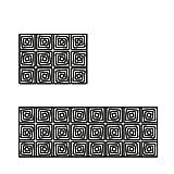 WXDD Fußmatten Nordisches schwarzes und weißes modernes Wohnzimmer, Teetischteppich, Schlafmatte, Matratze für die Küche, rutschfeste Fußmatten für den Haushalt, 40 * 60 40 * 120 Zweiteiliges Paket,