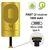 QI Récepteur Type A pour Samsung Galaxy J7 - J8 - J3 - J6 - LG V10 -LG Stylo 2-3 - Plus - Samsung QI Adaptateur - Samsung QI Charge Récepteur - QI Wireless Charging Receiver Adapter Samsung Galaxy J7
