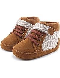 38e8a1f272f16 DELEBAO Chaussons Bébé Cuir Souple Chaussure Cuir Bébé Chaussures Premiers  Pas Chaussure de Marche ...