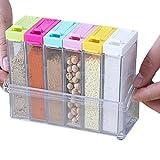 Set di 6barattoli per spezie condimento box cucina condimento contenitore