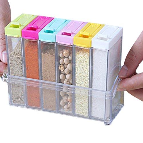 Candora® barattolo di vetro trasparente, scatola da cucina per ...