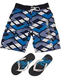 Smith & Jones Latitude Boardshort Swimshorts & Flip Flops Bundle Set