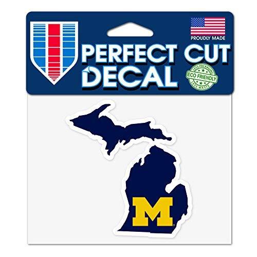 Wincraft Michigan Wolverines 10,2x 12,7cm Perfekten Schnitt State Aufkleber (Wolverine-aufkleber)