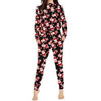 Nuovo da donna Natale Tuta 2Pezzi da Donna Tuta fondo Top loungewear tuta. UK (Plus Size Di Santa Suit)