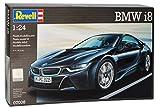 BMW I8 Coupe Schwarz Ab 2013 07008 Bausatz Kit 1/24 Revell Modell Auto mit individiuellem Wunschkennzeichen