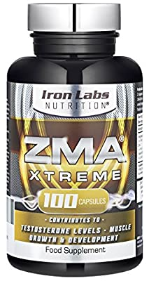 ZMA® Xtreme - ZMA® 2,430mg - Officially Licensed - Testosterone Booster & Muscle Growth (100 Vegetarian Capsules) by Iron Labs Nutrition