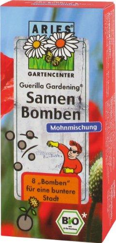 Aries, Samenbomben Mohnmischung für `Guerilla Gardening` , 8 St. (Guerilla-gardening)