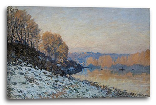 Printed Paintings Leinwand (60x40cm): Alfred Sisley - Port Marly White Frost -