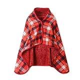 Valentine´s beste Geschenke für faule !!! Jumberri Unisex Multifunktions Doppelschicht Tartan Plaid Schal wickeln Schal Feuchtigkeit absorbierend Winter warme Decke (135 x 80 cm)