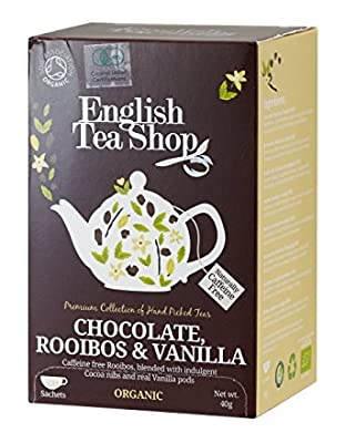 English Tea Shop Organic Chocolate Rooibos & Vanilla - 2 x 20 Sachets