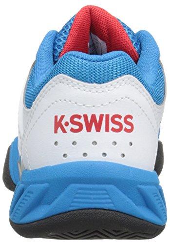 K-Swiss Big Shot Light 2.5 kids, Größe:37.5 Bianco/Blu/Rosso