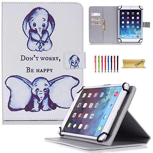 Dteck(TM) 7 Zoll Universal Tablet Hülle PU Leder Kinder Anti-Schock Ständer Schutzhülle mit Auto Schlaf/Wach Etui für Samsung Galaxy Tab 3 7.0/ Tab 4 7.0/ Tab A 7.0/ Tab J 7.0/ Amazon Kindle Fire 7/ Googel Nexus 7 und Mehr 6.5-7.5