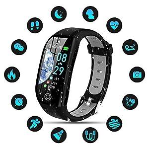 Tipmant Smartwatch, Relojes Inteligentes Mujer Hombre Niños Impermeable IP68 Pulsera Actividad Inteligente con… 1