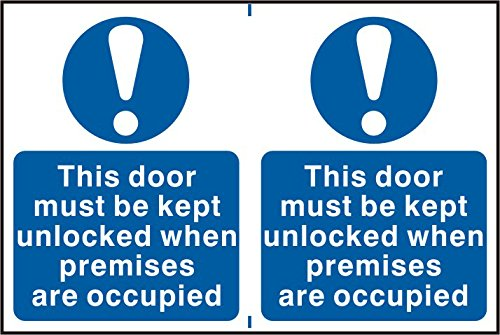 this-door-must-be-kept-unlocked-when-premises-are-occupied-1mm-plastic-pvc-sign-300-x-200mm-1mm-rigi