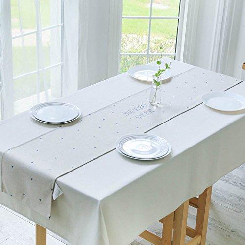 QiangZi Chemin De Table Grille Style Nordique Simple Coton Et Lin Décoration Plage Plates-Nappes Nappes, 32 * 190CM ( Couleur : Triangle , taille : 32*190CM )