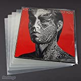 Lot de 100pochettes pour disques vinyle 12' (33tours) - Transparentes et protectrices