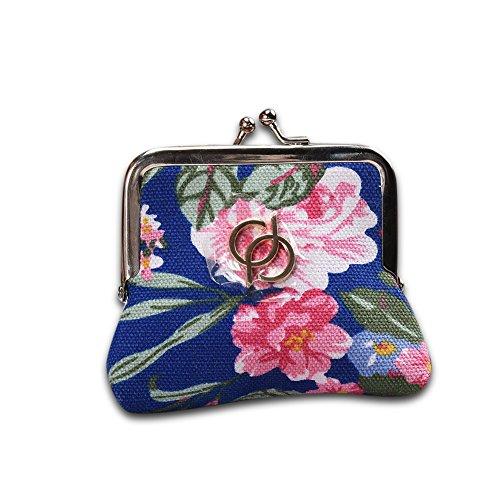 Faysting EU vari colori donna borsellino donna portafoglio cinese fiore decorato fashion stile buon regalo B