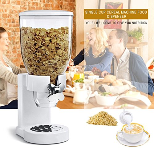 Hemore Müslispender für Trockenfutter, Spender, Küchenmaschine für Geschenk, Wohnaccessoires (Trockenfutter-spender)