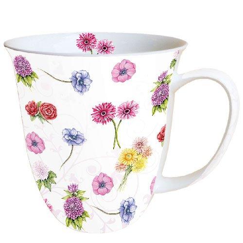 Ambiente Mug Tea/Coffee Flower Festival - Blumenfest ca. 0.4L Bone China Flower